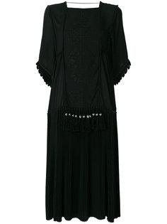платье-туника с плиссировкой и вышивкой  Veronique Branquinho