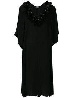 плиссированное платье шифт с кисточками Veronique Branquinho