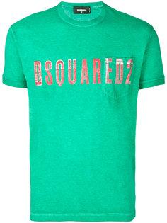 футболка с вышитым логотипом Dsquared2