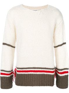свитер с полосатыми панелями Maison Margiela