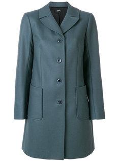 однобортное приталенное пальто Jil Sander Navy