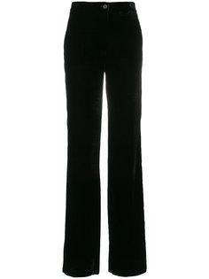 бархатные прямые брюки  Blugirl