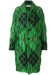 стеганое пальто в ромб Marni