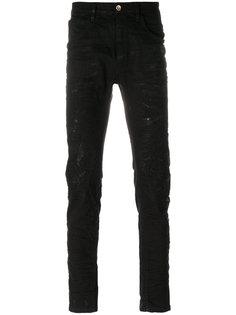 джинсы с потертой отделкой Poème Bohémien