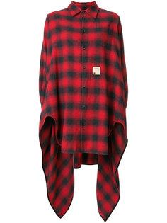 асимметричная рубашка с узором тартан  Dsquared2