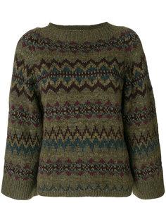 """укороченный свитер с узором """"фэр-айл"""" Polo Ralph Lauren"""