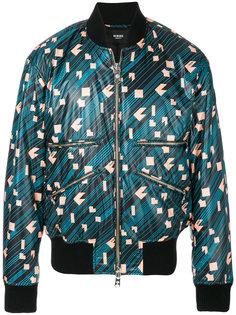куртка-бомбер с геометрическим принтом Versus