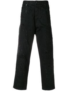широкие укороченные брюки   Diesel Black Gold