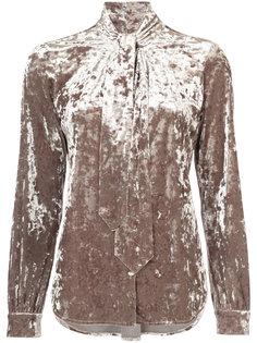 бархтная блузка с завязками на шее Lagence