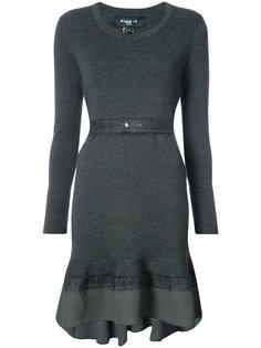 трикотажное платье с поясом на талии Paule Ka