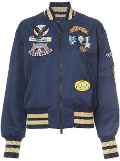 куртка-бомбер  с аппликацией Mira Mikati