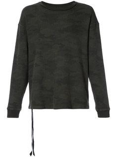 свитер с камуфляжным принтом Unravel Project