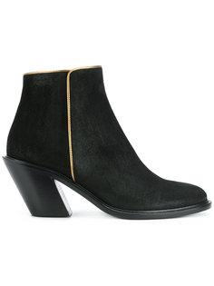 ботинки с золотистой окантовкой A.F.Vandevorst