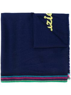 шарф с полосатой окантовкой и вышивкой Ps By Paul Smith