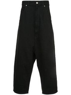 укороченные джинсы с заниженным шаговым швом Kidill