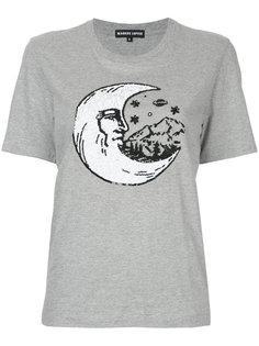футболка с месяцем из пайеток Markus Lupfer