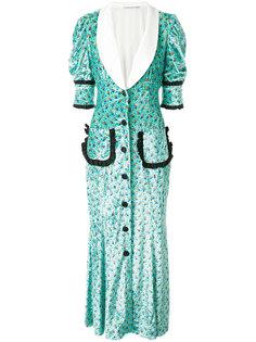 платье-рубашка с цветочным принтом  Alessandra Rich