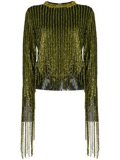 блузка с вышивкой металлик  Aviù