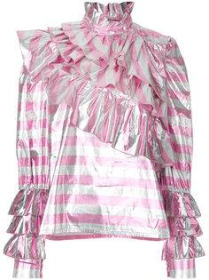 блузка в полоску с оборками  Alessandra Rich