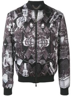 куртка-бомбер с Египетским принтом Frankie Morello