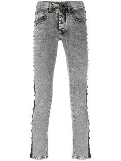 джинсы скинни с заклепками Frankie Morello