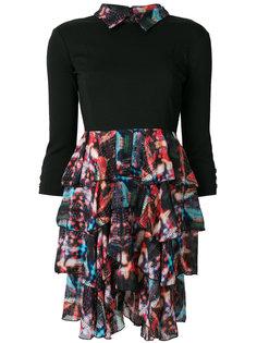 мини-платье с многослойными рюшами  Frankie Morello