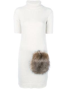 трикотажное платье с короткими рукавами Eleventy