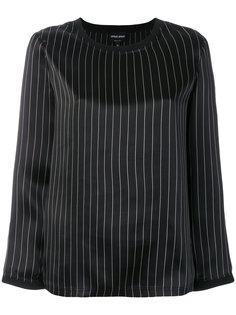 блузка в полоску с круглым вырезом  Giorgio Armani