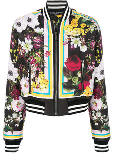 куртка-бомбер с цветочным принтом Dolce & Gabbana