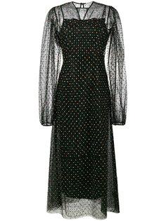 сетчатое платье в горох Emilia Wickstead