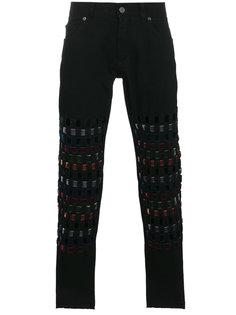 джинсы с цветной отделкой  Dolce & Gabbana
