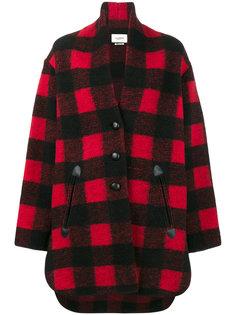 клетчатое пальто-кокон Gino Isabel Marant Étoile