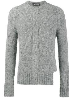свитер вязки с косичками с длинными рукавами с прорезью Neil Barrett