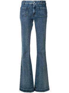 расклешенные джинсы со  вставками  The Seafarer