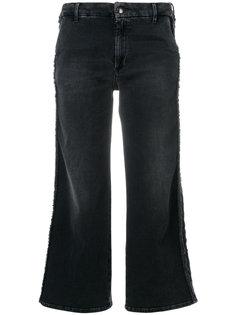 укороченные джинсы с бахромой  The Seafarer
