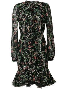 расклешенное платье  с цветочным принтом Giambattista Valli