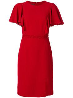 платье с присборенными рукавами Giambattista Valli