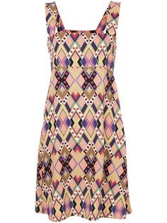 платье с геометрическим принтом Vivetta