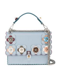 средняя сумка-тоут Kan I с цветочным декором Fendi