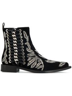 декорированные ботинки  Alexander McQueen