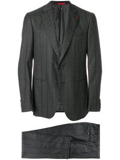 полосатый деловой костюм Isaia