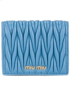 маленький кошелек с логотипом Miu Miu