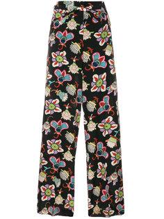 брюки палаццо Popflowers Valentino