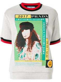 футболка с принтом 2017 Prada