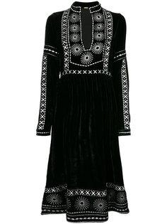 платье с разрезом и отделкой  Dodo Bar Or