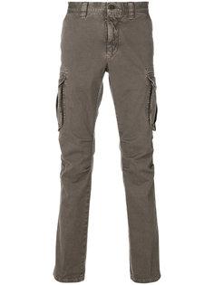 брюки кроя скинни с накладными карманами Incotex