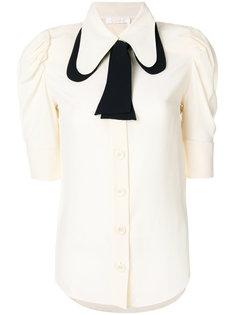 блузка с контрастной завязкой на воротнике  Chloé