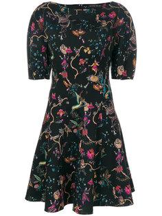 расклешенное платье с цветочным принтом Etro