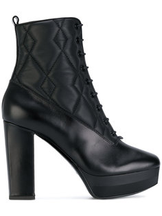 стеганые ботинки по щиколотку Pollini