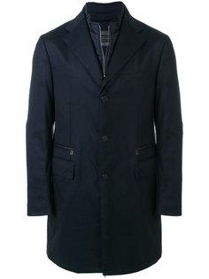 однобортное пальто с двойным воротником Corneliani